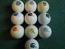 """10 """"american football club casques"""" - balles de golf -"""" pearl/a """"grades."""