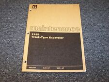 Caterpillar Cat 215B Track Type Excavator Owner Operator Maintenance Manual Book