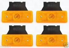 4 x Orange LED Begrenzungsleuchten E-zeichen Lampen Lkw-anhänger