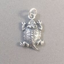 Sterling Silver 3D 15x10x6mm Texas Horned Toad Frog Charm