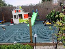 Playground Gym Garden Anti-Fatigue Swing Slide Safety Floor Mats Tiles Green