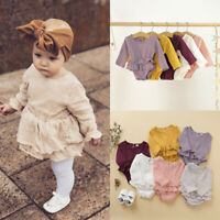 Autumn Newborn Infant Baby Girl Clothes Romper Ruffle Bodysuit Outfit Costume US