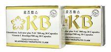 Lot of 2 Sets KB Kyusoku Bihaku Glutathione Whitening Capsule New Flat Packaging
