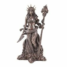 Greek Mythology Hecate Goddess of Witchcraft and Magic Statue Bronze