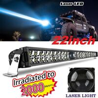 "22"" led laser light bar Combo Driving lamp 4x4 offroad Truck Dual row 32/42/50"""