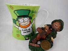 Looney Leprechauns Coffee Mug Cup Ireland & Luck Of The Irish figurine LARRY