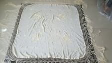Antique Chinese Hand Embroidery Piano Shawl 109 X 109 Fringe 44 Cm good conditio