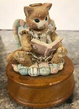 Priscilla Hillman Enesco Cats Angel Kitten Music Box Christmas Joy To The World