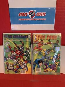 Lot Of 2 Ultimate Sports Force Comic The Guardians Zone NBA Hologram Seal 2014