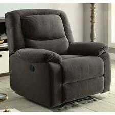Gray Power Recliners Armchair Recliner Chair Fully Recline Chairs Grey