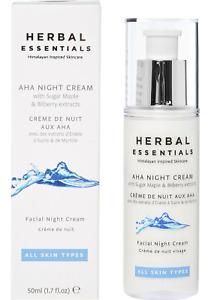 HERBAL ESSENTIALS Aha Night Cream with Sugar Maple & Bilberry 50ml rrp £42