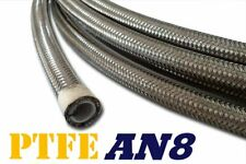 "AN 8 8AN 7/16""  Stainless PTFE Fittings Steel Ethanol Fuel Oil Hose Line - 3ft"