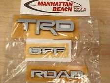 2016-2018 TOYOTA 4RUNNER TRD OFF ROAD EMBLEM SET SILVER OEM GENUINE TOYOTA