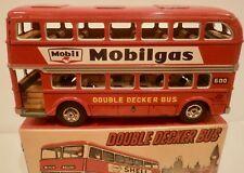 "8"" Double Decker Tin Friction Bus-Asakusa-Japan-1950s-NMIB"