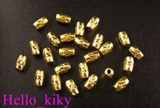 350Pcs Antiqued goldb plt barrel spacer beads 6x3mmA86