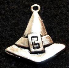 10Pcs. Tibetan Silver Halloween HAT Witch Leprechaun Charms Earring Drops HW15