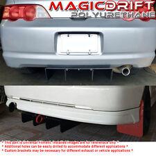 Universal fit DTM Rear Bumper Lower Aero Diffuser Aluminum Metal Plate Black BK