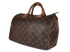 LOUIS VUITTON Speedy 30 Monogram Canvas Leather Hand Bag LH3578