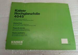 Hochglanzfolie für Trockenpresse Doppeltrockenpresse KAISER Typ 4042