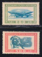Romania 1946 MNH Mi 998-999 Sc C24-C25 Aviator and planes ** LUXUS