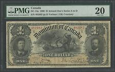 CANADA DC-13a 1898 $1 INWARD ONE'S SERIES A TO D -- PMG VF 20 - WLM1207