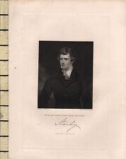 C1830 georgiano stampa ~ Edward Geoffrey STANLEY ~ Lord STANLEY