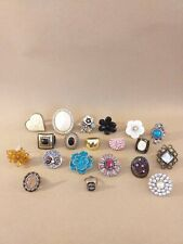 Costume jewellery rings joblot x 20