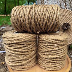 Jute Hemp Rope Natural String Twine Craft Rope  for DIY Cat Scratcher Gardening