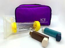 ICE Medical Purple Inhaler Medication Bag - Epipen, Spacer, Travel or Home