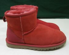 new UGG 5854 Mall Classic Mini Boots red   Size  5