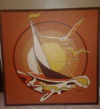 Retro oil painting signed Garee 37X37 estate find