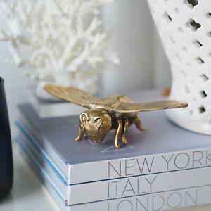 Belvedere Brass Bumble Bee Large Figurine 15.5cm(L) Hamptons Coastal Home Decor