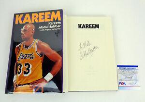 Kareem Abdul Jabbar Signed Autograph Kareem Hardcover Book PSA/DNA COA A