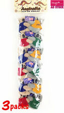 3 x Pack of 12 Clip On Hugging Koala with Flags Souvenir Perfect Gift A604