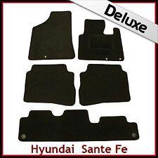 HYUNDAI SANTA FE Mk2 2010-2012 7-Seater Tailored LUXURY 1300g Carpet Mats BLACK