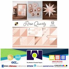"DCWV®️ ROSE QUARTZ GOLD PAPER STACK 12""X12"" 12/PKG PS-005-00561 Double Sided"