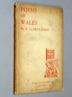 POEMS OF WALES - A. G Prys-Jones (Basil Blackwell 1923 1st Edition) Welsh poetry