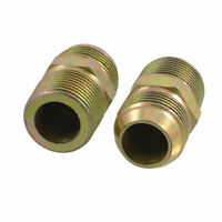 """2 Pcs 3/4"""" to 3/4"""" PT Equal Thread Pipe Fittings Hex Nipples Connectors"""
