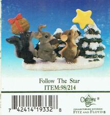 "Fitz & Floyd Charming Tails ""Follow the Star"" Figurine - Mint in Box"