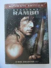 "RAMBO ""ULTIMATE EDITION"" 3 DISC SET (BRAND NEW) ""STALLONE"" LIONSGATE"