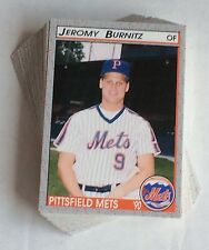 1990 Pucko Pittsfield Mets Minor League Team Set Burnitz New York *60