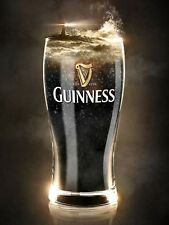 Guinness Glass, Retro metal Sign vintage / man cave / Bar / Pub