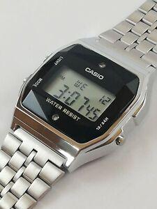 CASIO A159WAD-1DF (593) Retro Silver Original Japan Made Digital Quartz Watch