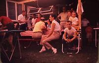 Vintage Photo Slide 1960 Family BBQ Outside Gathering Boy Sitting Posed