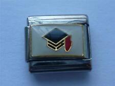 GRADUATION CAP CLASSIC SILVER ITALIAN CHARM fits all design 9mm bracelet AP8