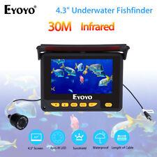 "30M 4.3"" Fishing 1000Tvl Camera Underwater Fish Finder Monitor w/4000mAh Battery"