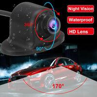 360° Auto HD CCD Telecamera Posteriore Retrocamera Retromarcia Visione Notturna