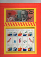 AUSTRALIA EMERGENCY SERVICES Folder Stamps & $20 BANKNOTE Numbered