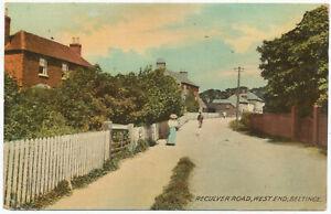 Reculver Road, West End, Beltinge, 1912 postcard to William Staff