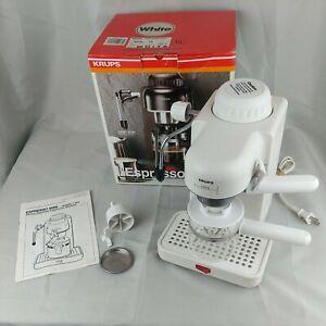 NOB Krups 963 Mini Espresso Cappuccino Machine In White Switzerland